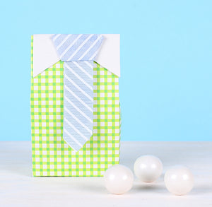 Baby Shower Favor Boxes: Tie | www.bakerspartyshop.com
