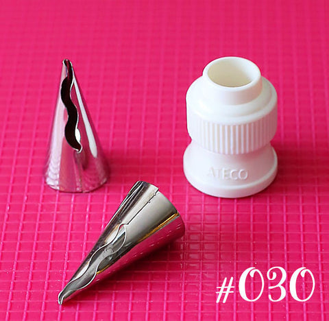 Ateco Ruffle Frosting Tip: 030 | www.bakerspartyshop.com