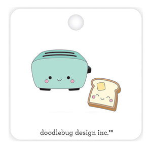 Toaster Time Enamel Pin | www.bakerspartyshop.com