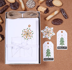 Christmas Cookie Box Kit: Peace + Joy | www.bakerspartyshop.com