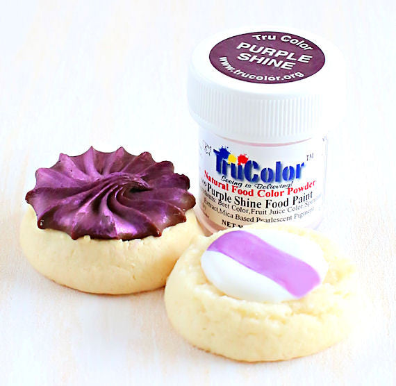 TruColor Purple Shine Food Paint Powder | www.bakerspartyshop.com