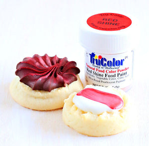 TruColor Red Shine Food Paint Powder | www.bakerspartyshop.com
