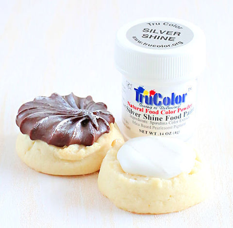 TruColor Silver Shine Food Paint Powder | www.bakerspartyshop.com