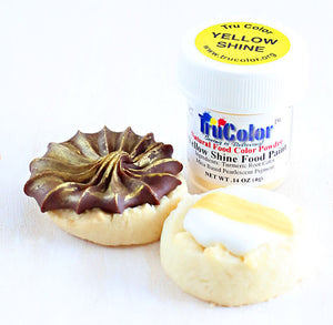 TruColor Yellow Shine Food Paint Powder | www.bakerspartyshop.com
