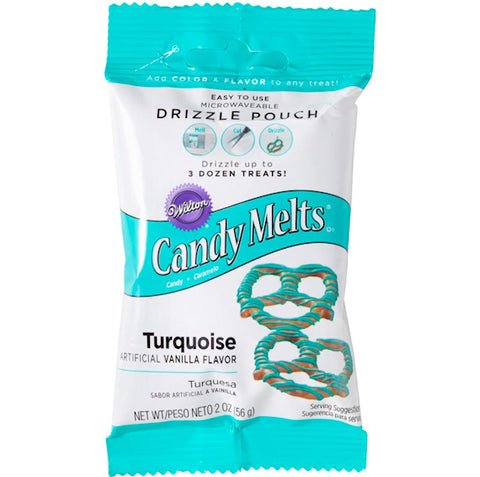 Mini Turquoise Candy Melts | www.bakerspartyshop.com