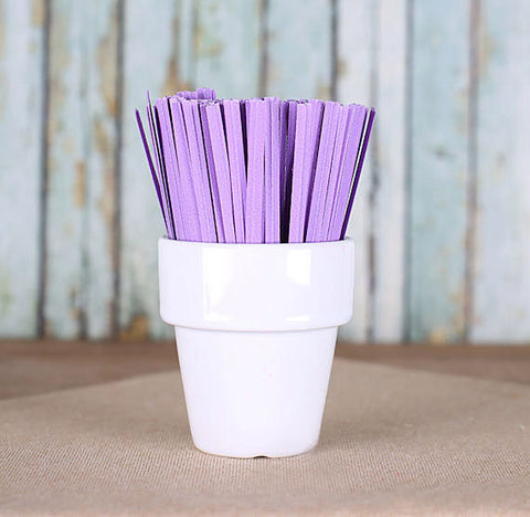 "Bulk Light Purple Paper Twist Ties (3.5"") 