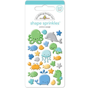 Glossy Under the Sea Stickers | www.bakerspartyshop.com
