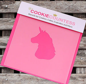 Unicorn Cookie Stencil | www.bakerspartyshop.com