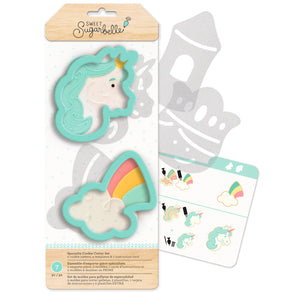 Sweet Sugarbelle Unicorn Cookie Cutters | www.bakerspartyshop.com