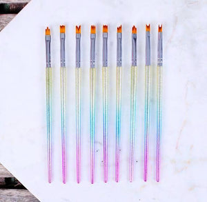 Unicorn Gradient Paint Brush Set | www.bakerspartyshop.com