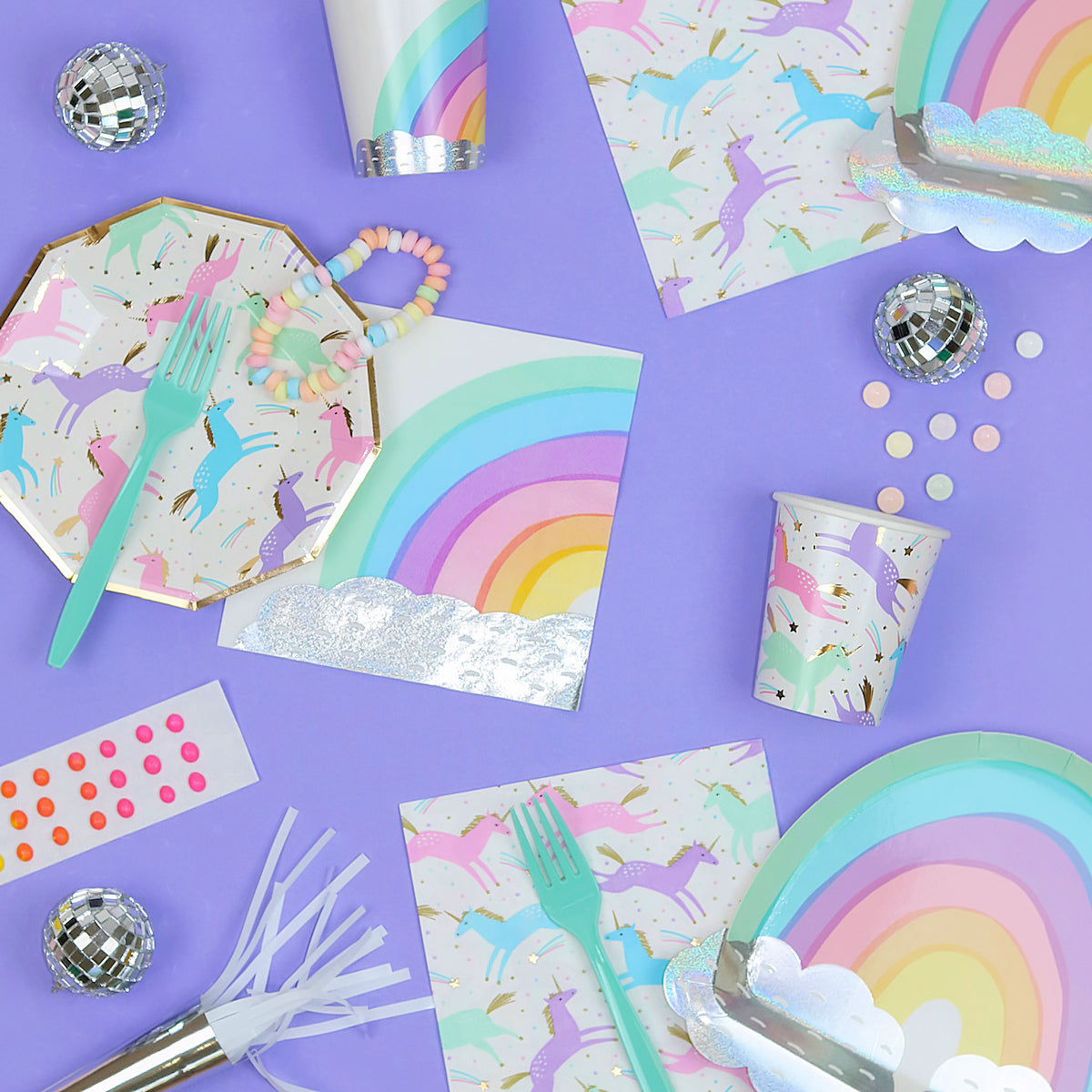 Pastel Rainbow Paper Cups Daydream Society Over The Rainbow Cups Bakers Party Shop
