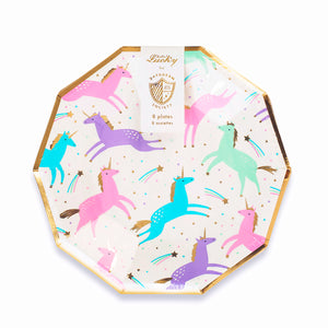 Small Unicorn Plates | www.bakerspartyshop.com