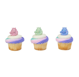 Unicorn Cupcake Topper Rings | www.bakerspartyshop.com