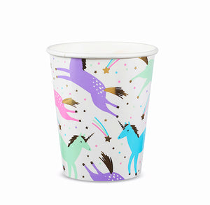 Magical Unicorn Paper Cups | www.bakerspartyshop.com