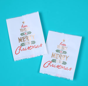 Mini Merry Christmas Candy Bags | www.bakerspartyshop.com