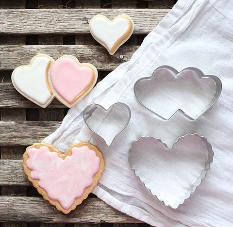 Valentine's Day Heart Cookie Cutter Set | www.bakerspartyshop.com