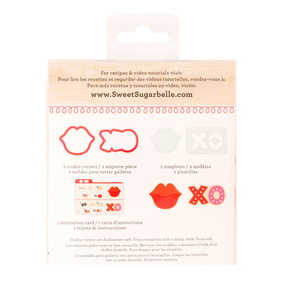 Sweet Sugarbelle Xo And Lips Cookie Cutter Set Valentine Cookie