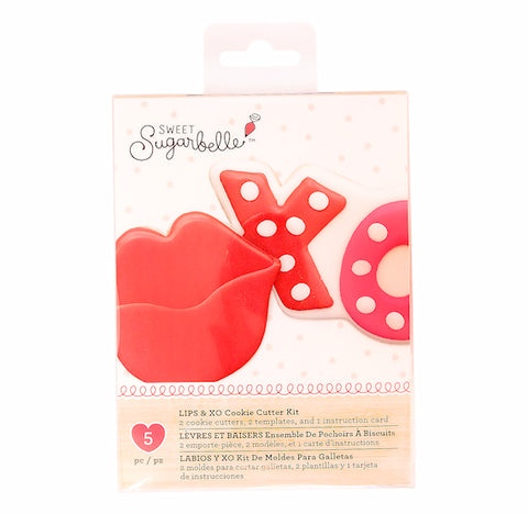 Sweet Sugarbelle XO and Lips Cookie Cutter Set | www.bakerspartyshop.com