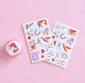 Stickies™ Valentine  Edible Stickers: Ps I Love You | www.bakerspartyshop.com