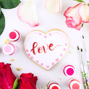 Valentine's Day Edible Art Paint Trio | www.bakerspartyshop.com