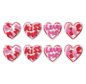Valentine's Day Heart Sugar Toppers | www.bakerspartyshop.com