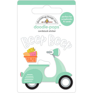 Doodle-Pops Scooter Sticker | www.bakerspartyshop.com