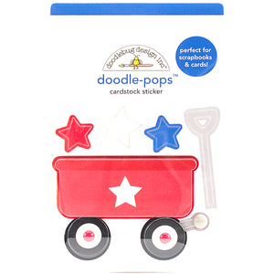 Doodle-Pops Red Wagon Sticker | www.bakerspartyshop.com
