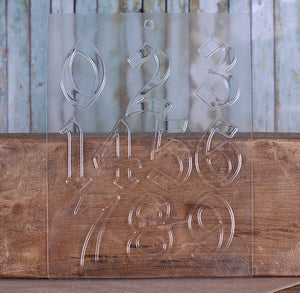 Fancy Numbers Candy Mold | www.bakerspartyshop.com