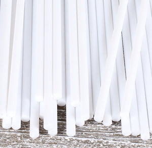 White Lollipop Sticks: 6"