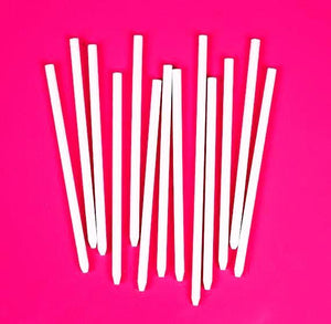 White Candy Apple Sticks: Paper | www.bakerspartyshop.com