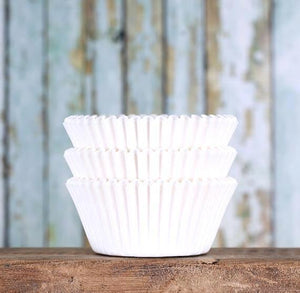 Bulk White Cupcake Liners | www.bakerspartyshop.com