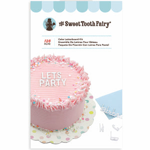 Sweet Tooth Fairy Cake Letterboard Kit: White | www.bakerspartyshop.com