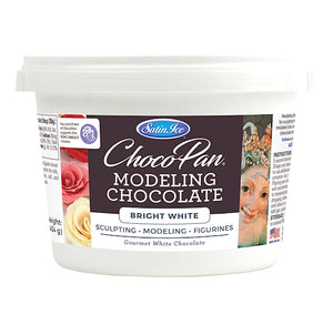 Satin Ice ChocoPan White Modeling Chocolate: 1 lb | www.bakerspartyshop.com