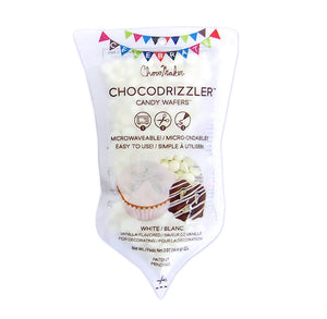 Chocodrizzler Mini Candy Wafers Pouch: White | www.bakerspartyshop.com