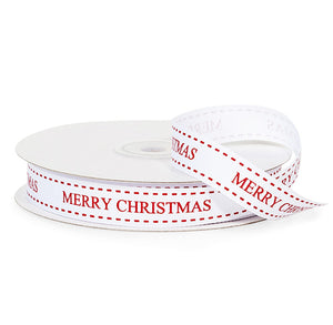 Merry Christmas Ribbon: 25 Yards | www.bakerspartyshop.com