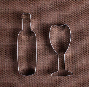 Wine Lovers Cookie Cutter Set | www.bakerspartyshop.com