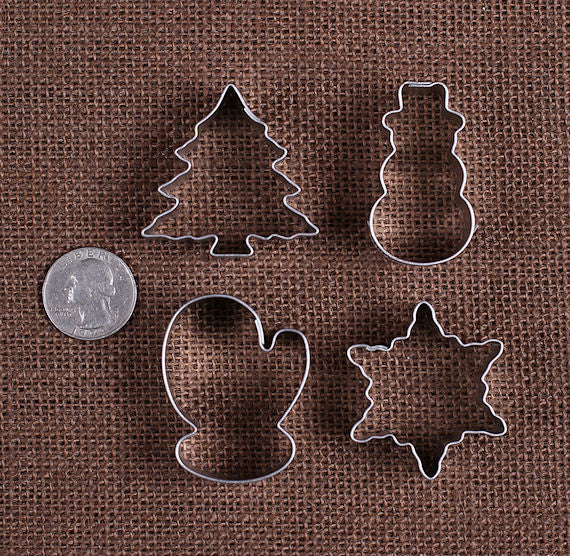 Mini Christmas Cookie Cutters Christmas Fondant Cutters