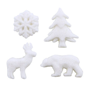 Winter Forest Sugar Toppers | www.bakerspartyshop.com