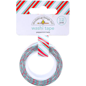 Striped Washi Tape: Peppermint Twist | www.bakerspartyshop.com