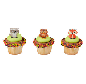 Woodland Cupcake Topper Rings | www.bakerspartyshop.com