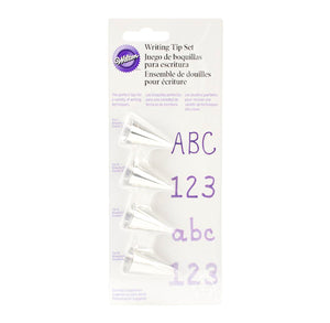 Wilton Small Frosting Tip Set: Writing | www.bakerspartyshop.com