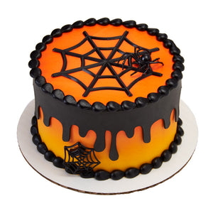 Halloween Cake Toppers: Spider and Web | www.bakerspartyshop.com