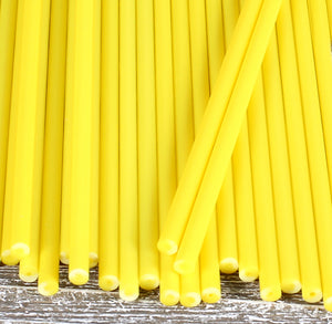 Yellow Lollipop Sticks: 6"