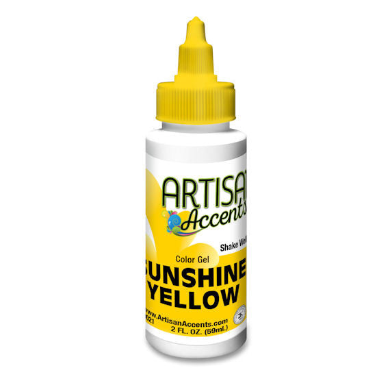 Artisan Accents Yellow Color Gel Food Coloring | www.bakerspartyshop.com