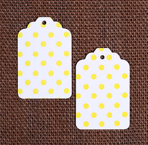 Yellow Gift Tags: Polka Dot | www.bakerspartyshop.com