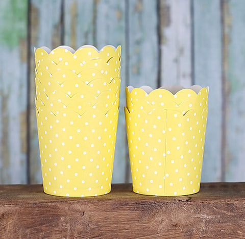 Mini Yellow Baking Cups | www.bakerspartyshop.com