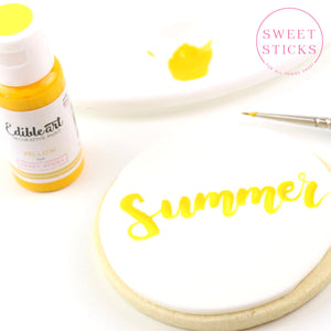 Yellow Edible Art Paint | www.bakerspartyshop.com