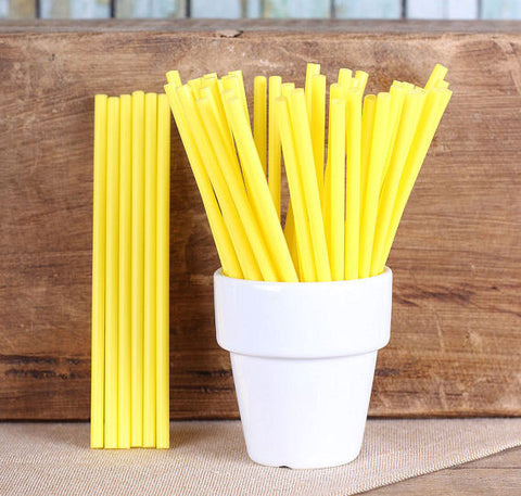 "Bulk Yellow Lollipop Sticks (4 1/2"") 
