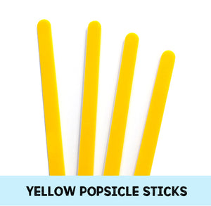 Yellow Popsicle Sticks: Acrylic Cakesicle Sticks | www.bakerspartyshop.com