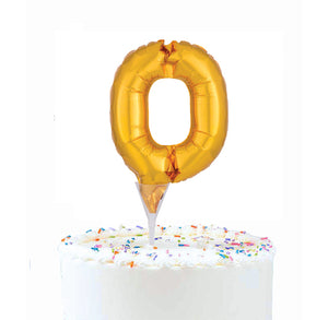 Inflatable Balloon Cake Topper: Number 0 | www.bakerspartyshop.com